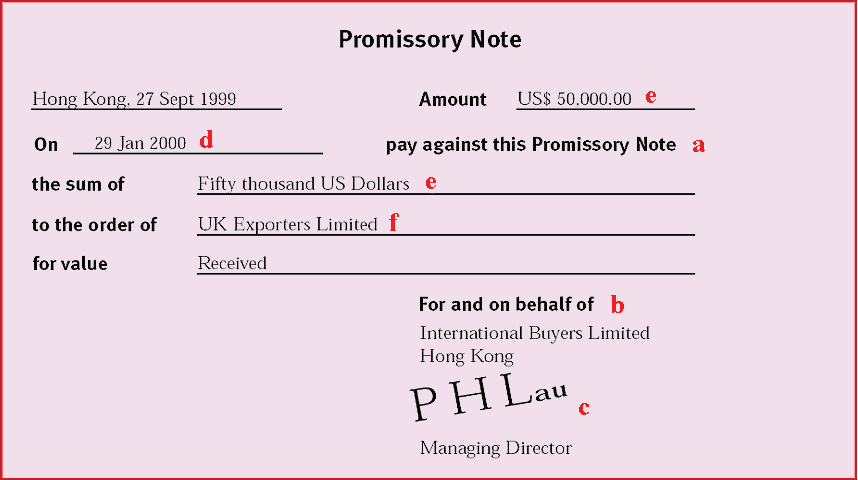 Ray Corporation – Draft of Promissory Note